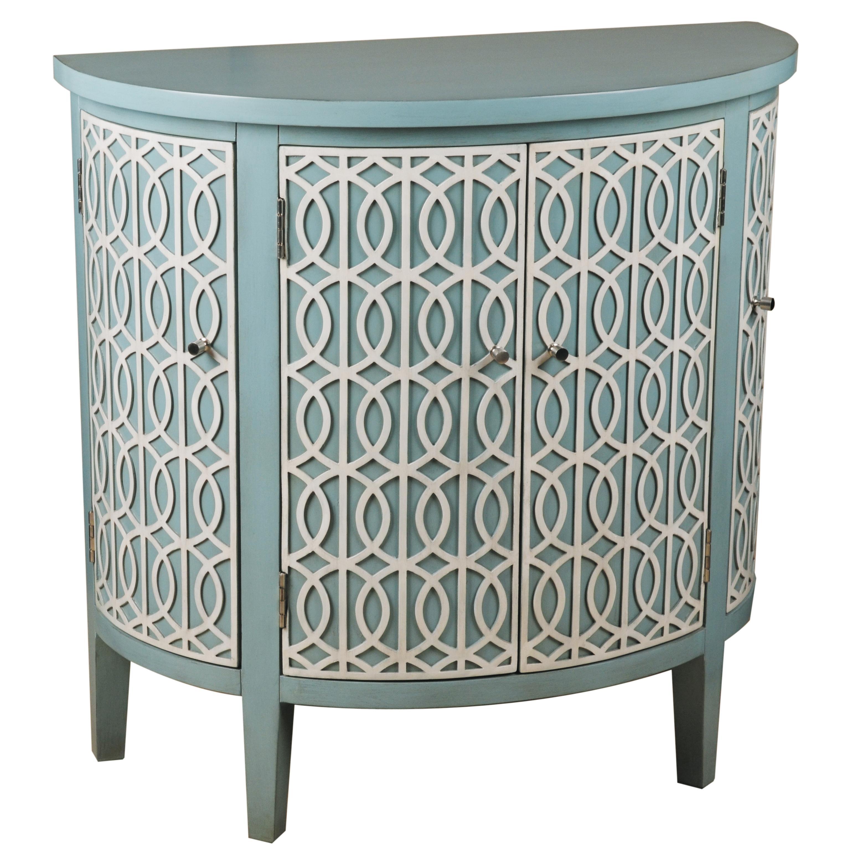 pulaski furniture accents blue halfround chest