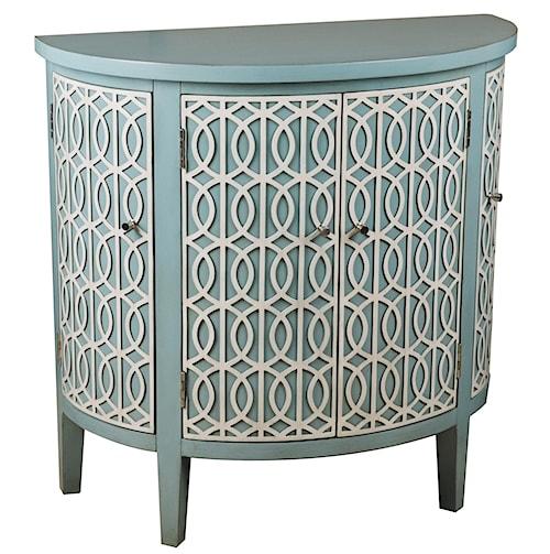 Pulaski Furniture Accents Blue Half-Round Chest