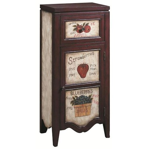 Pulaski Furniture Accents Accent Chest with Country Fruit Stand Motif