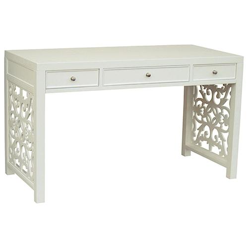 Pulaski Furniture Accents 3 Drawer Regolo Desk with Lattice Sides