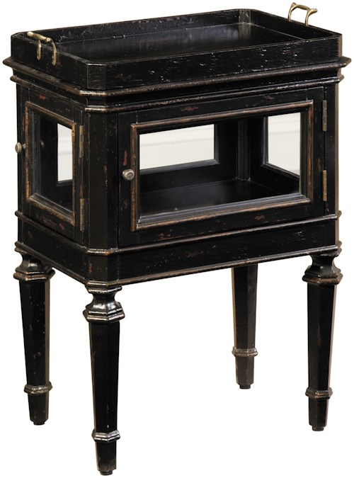 Pulaski Furniture Accents Panitnoir Vitrine Table with Lift-Off Tray Top