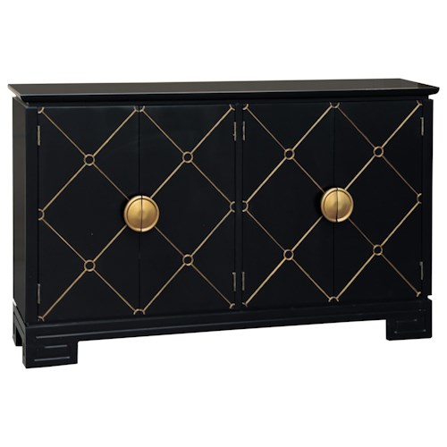 Pulaski Furniture Accents Hauser Console with Gold Accents