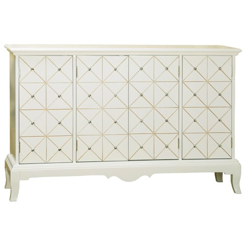 Pulaski Furniture Accents Capella Credenza with Rhinestone Accents