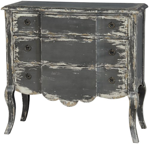 Pulaski Furniture Accents Distressed Chest of Drawers w/ Cabriole Legs