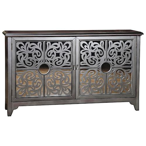 Pulaski Furniture Accents Taj Credenza with Decorative Grilles