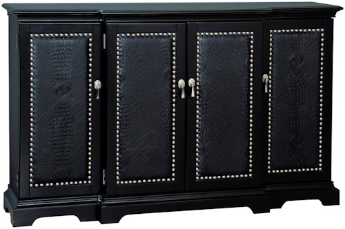 Pulaski Furniture Accents Ebony Gator Credenza with Faux Animal Skin
