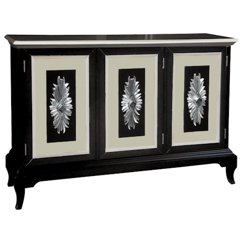 Pulaski Furniture Accents Lindy Credenza with Sunburst Motif Onlays