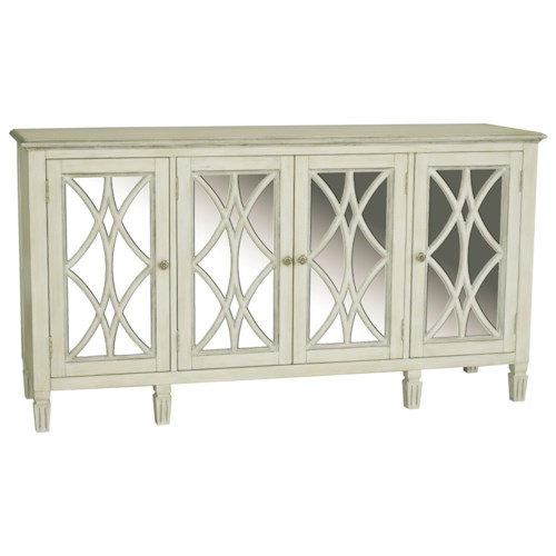 Pulaski Furniture Accents 4 Door Florence Console with Wood Grilles