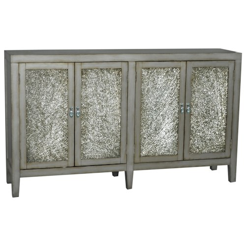 Pulaski Furniture Accents Murand Credenza with Antique Crackle Glass