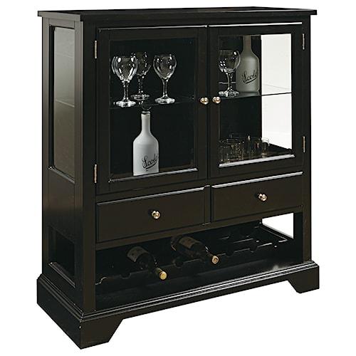 Pulaski Furniture Accents Leo Wine Cabinet in Black Finish