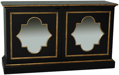 Pulaski Furniture Accents Siza Chest with Gold Trimmed Mirror Panels