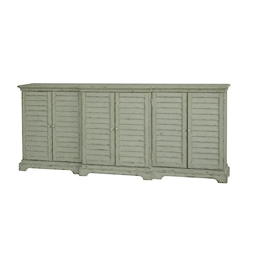 Pulaski Furniture Accents 80 Inch Distressed White Console Table