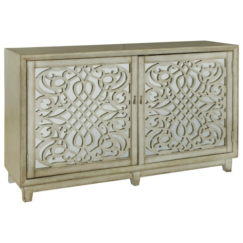 Pulaski Furniture Accents Christiene Credenza with Intricate Wood Grilles