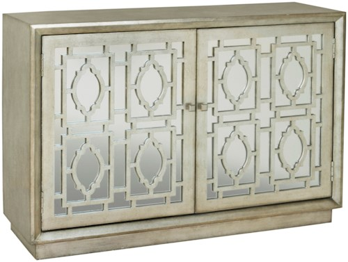 Pulaski Furniture Accents Credenza with Mirrored Doors and Wood Grilles