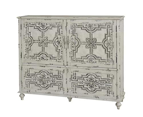 Pulaski Furniture Accents White Distressed Finish Credenza