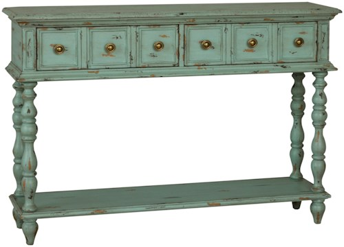 Pulaski Furniture Accents 2 Drawer Leg Console Table