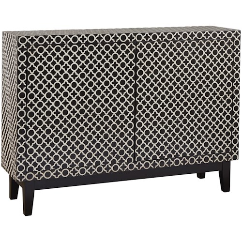 Pulaski Furniture Accents Adams Credenza with Geometric Graphic Pattern