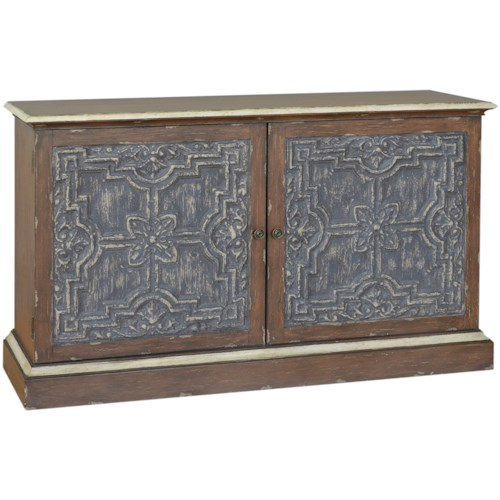 Pulaski Furniture Accents Garfield Credenza with Faux Antique Tin Panels