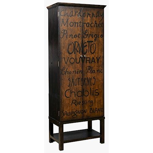 Pulaski Furniture Accents Hand Painted Majic Wine Cabinet