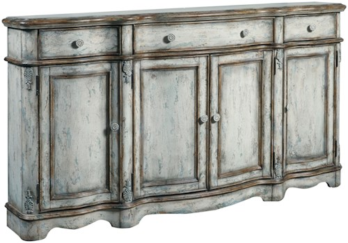 Pulaski Furniture Accents Vintage Credenza with Decorative Post Accents