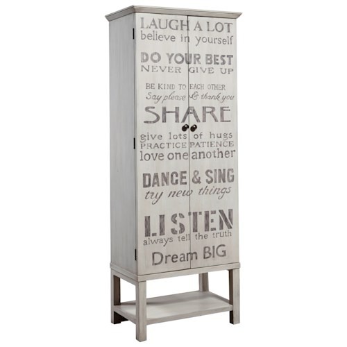 Pulaski Furniture Accents Grandma Wine Cabinet with Cute Quotes on the Doors