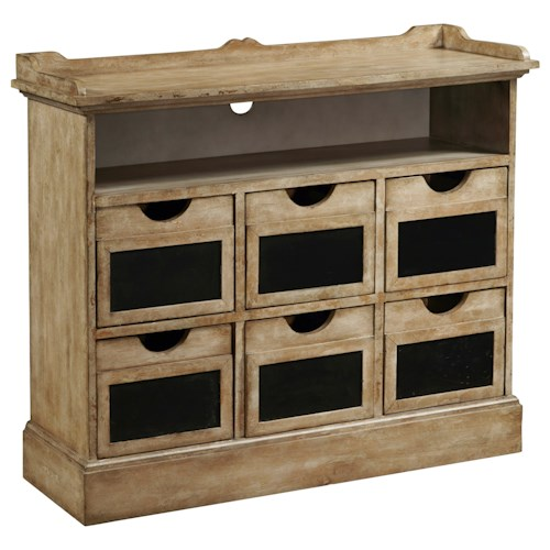 Pulaski Furniture Accents 6 Drawer Final Straw Accent Sideboard with Wire Access