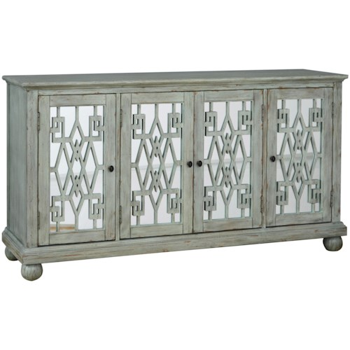 Pulaski Furniture Accents Spirit Console with Aqua Interior