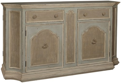 Pulaski Furniture Accents Phantom Credenza with 2 Shaped End Doors