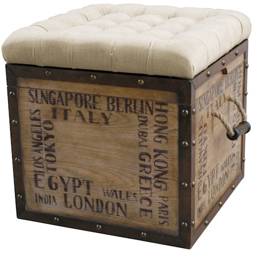 Pulaski Furniture Accents Tufted City Slicker Crate Storage Ottoman