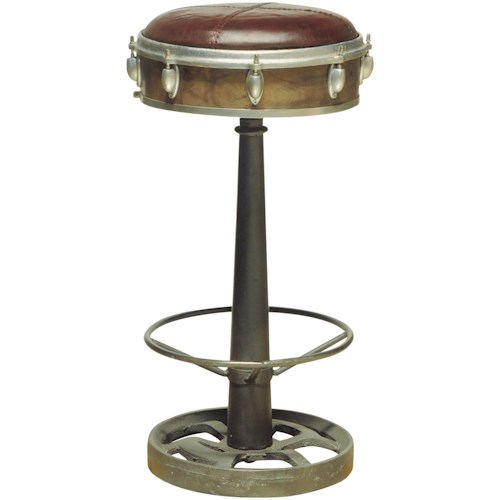Pulaski Furniture Accents Wright Bar Stool with Drum Hardware