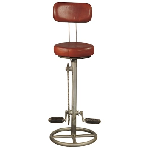 Pulaski Furniture Accents Kent Bar Stool with Bicycle Pedal Foot Rests