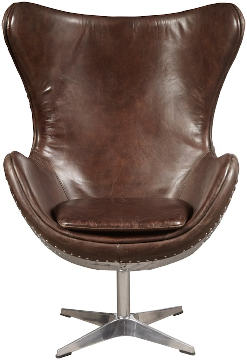 Pulaski Furniture Accents Accent Chair with Formed Leather Seat and Back