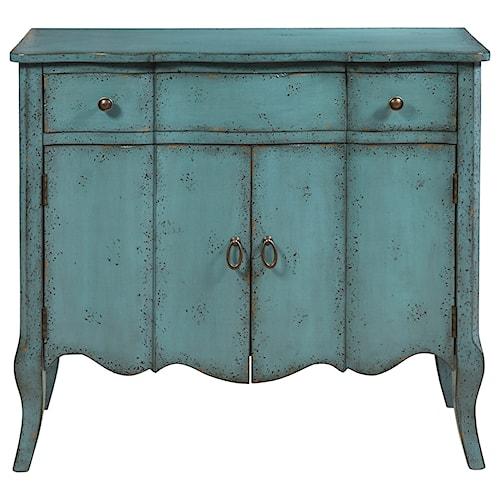 Pulaski Furniture Accents Mazzini Accent Chest in Distressed Turquoise Finish