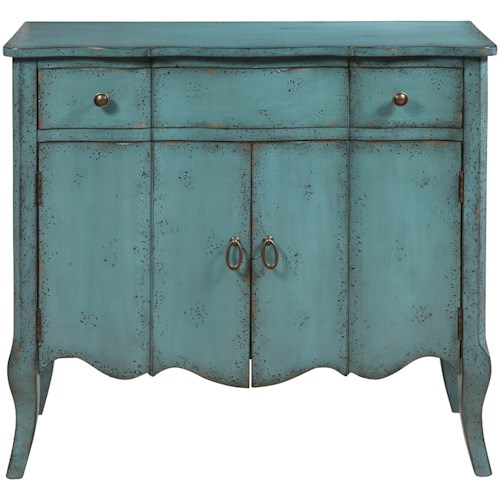 Pulaski Furniture Accents Mazzini Accent Chest in Distressed Turquoise Finish