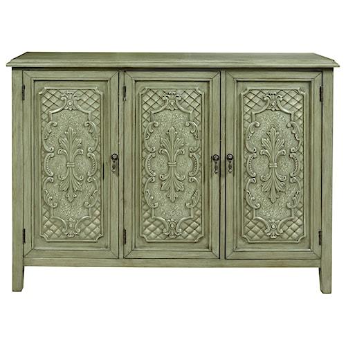 Pulaski Furniture Accents Vaneau Console with Antique Tin Panel Inspiration