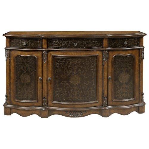 Pulaski Furniture Accents Traditional 3 Door Accent Credenza