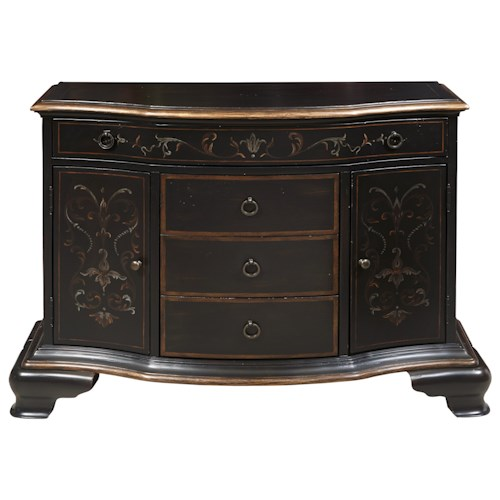 Pulaski Furniture Accents 4 Drawer Tyler Accent Chest with Bracket Feet