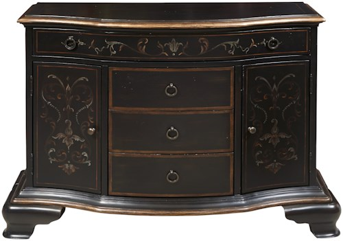 Pulaski Furniture Accents 4 Drawer Tyler Accent Chest with Bracket Feet