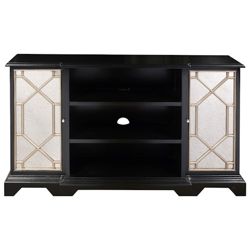 Pulaski Furniture Accents Payton Console Chest with Mirrored Doors