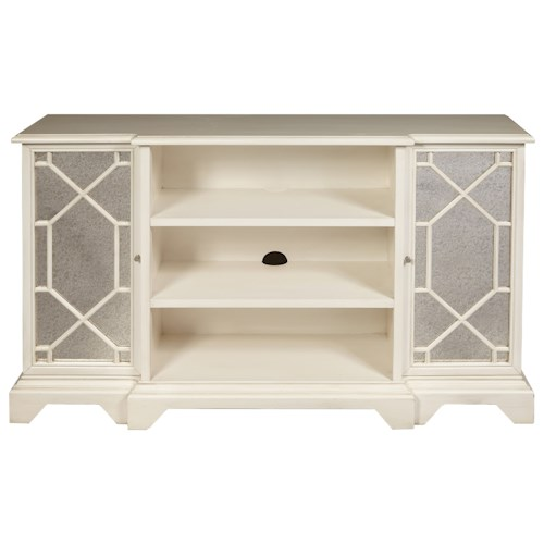 Pulaski Furniture Accents Madison Console Chest with Mirrored Doors