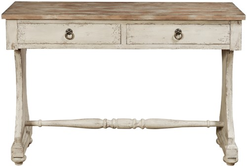 Pulaski Furniture Accents Emma Console Table with Aged Elm Veneers
