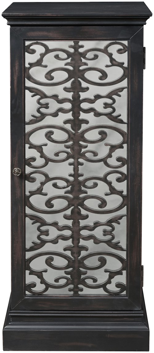 Pulaski Furniture Accents Coralie Wine Cabinet with Intricate Wood Grille