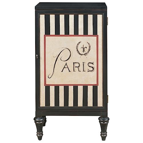 Pulaski Furniture Accents Hand Painted Paris Bar Cabinet