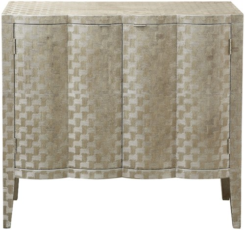 Pulaski Furniture Accents Bar Cabinet in Metallic Gold and Platinum