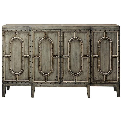 Pulaski Furniture Accents Industrial-Inspired Mariella Bar Cabinet