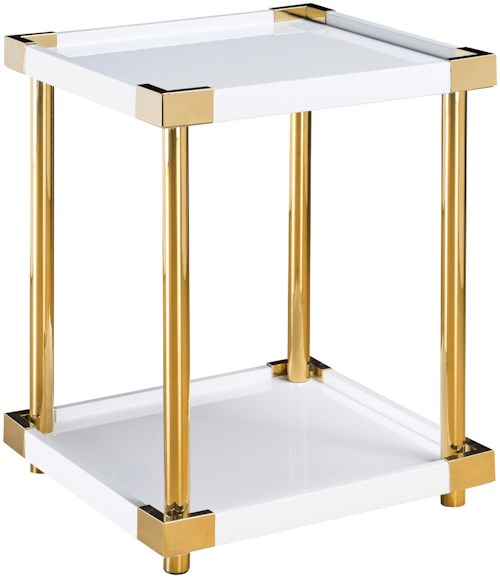 Pulaski Furniture Accents Arlene Accent Table with Gold Finished Posts