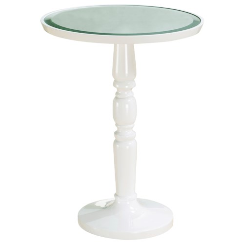 Pulaski Furniture Accents Gigi Round Accent Table with Mirror Top