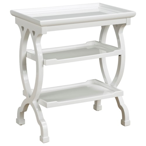 Pulaski Furniture Accents Silvestre Accent Table in High Sheen White Finish