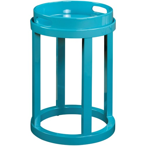 Pulaski Furniture Accents Blair Accent Table in High Sheen Blue Finish