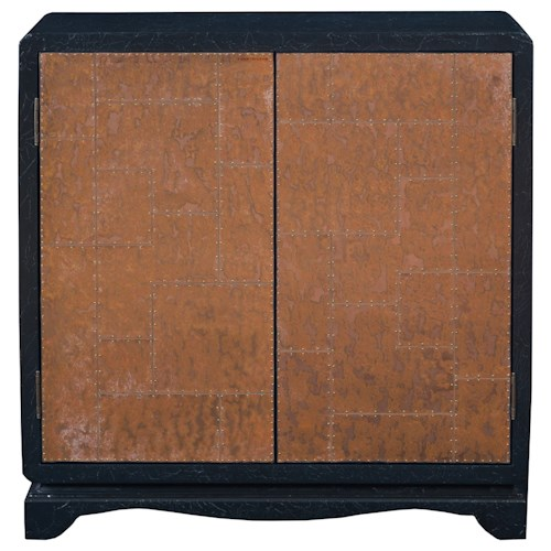 Pulaski Furniture Accents Lue Accent Cabinet with Copper Sheet Metal